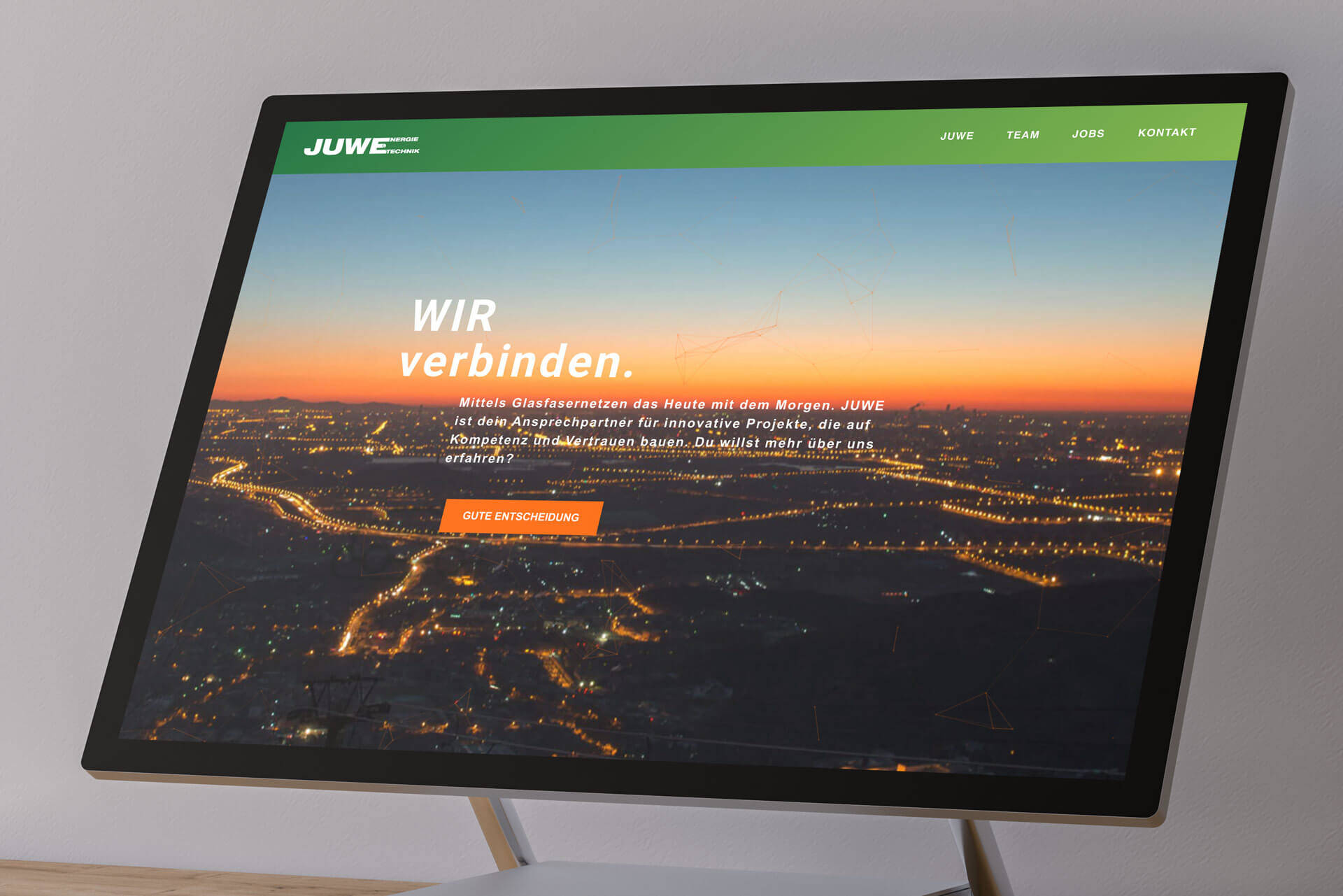 JUWE Energie Wordpress Website