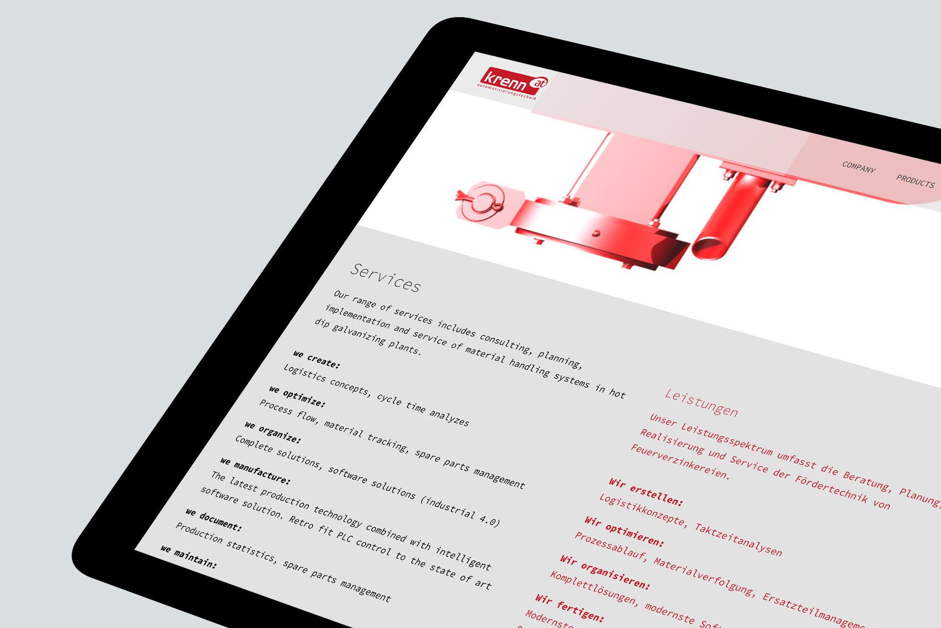 Krenn Automatisierungstechnik Website