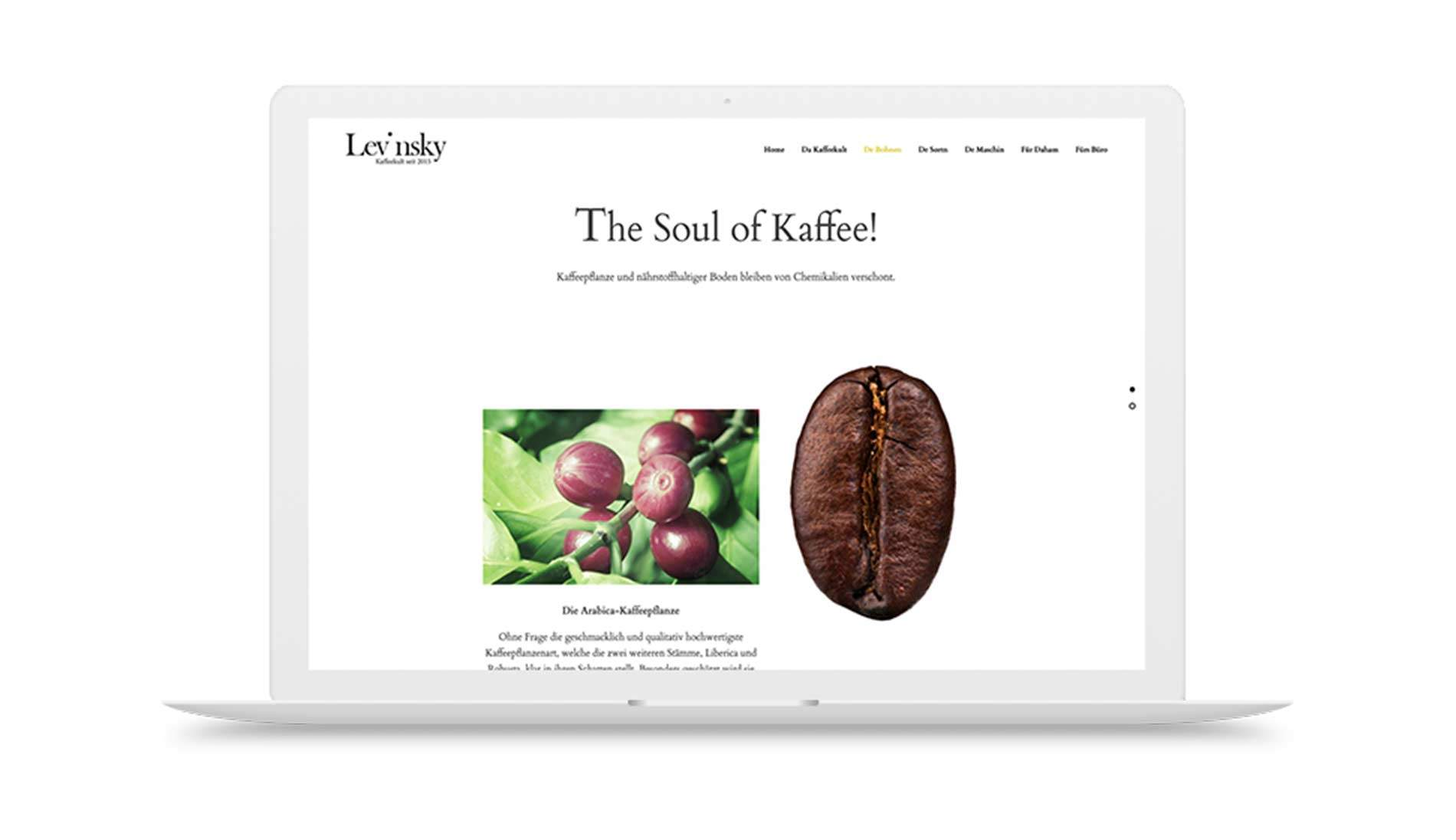 Levinsky Kaffee Website